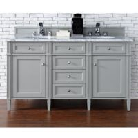 James Martin Furniture Brittany 60-Inch Double Cabinet Vanity in Urban Grey