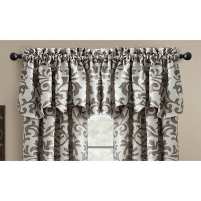 croscill manolo window valance in charcoal