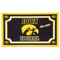 University of Iowa Embossed Door Mat