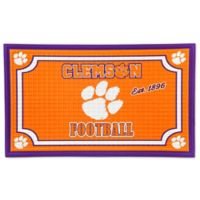 Clemson University Embossed Door Mat