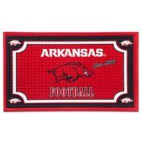 University of Arkansas Embossed Door Mat