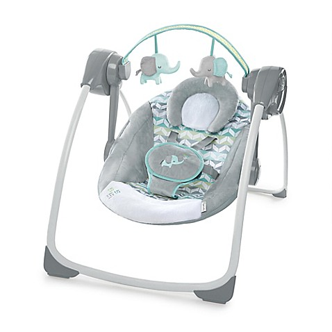 Ingenuity Comfort 2 Go Portable Swing Jungle Journey In