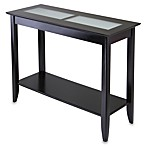 Loren Console End Table with Frosted Glass Tiles