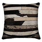 Torino Madrid Cowhide 18-Inch x 18-Inch Throw Pillow in Ivory