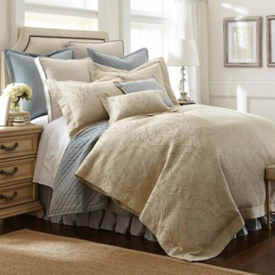 Austin Horn Clics Aail California King Comforter Set In Aqua Blue Beige