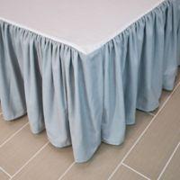 Austin Horn® Classics Abigail Queen Bed Skirt in Aqua Blue/Beige