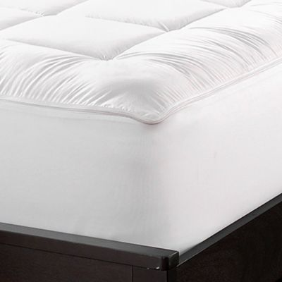 Sharper Image Zip Wash Twin Mattress Pad In White