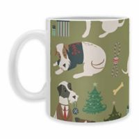 "DENY Designs 'Christmas Canine Jack Russell"" Mug in Green (Set of 2)"