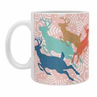 """DENY Designs """"Dashing Through the Snow Serene"""" Mug in Pink (Set of 2)"""