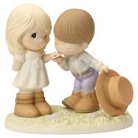 Precious Moments® Cowboy Kissing Girl's Hand Figurine
