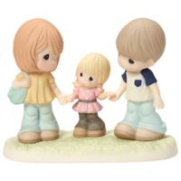 "Precious Moments ""Girl Holds Parents' Hands"" Figurine"