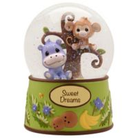 "Precious Moments ""Precious Paws"" Animal Musical Waterball Figurine"