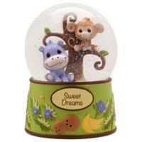 "Precious Moments ""Precious Paws"" Animal Musical Waterball Figurine"