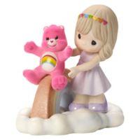 Precious Moments Care Bear Girl and Cheer Bear Rainbow Figurine