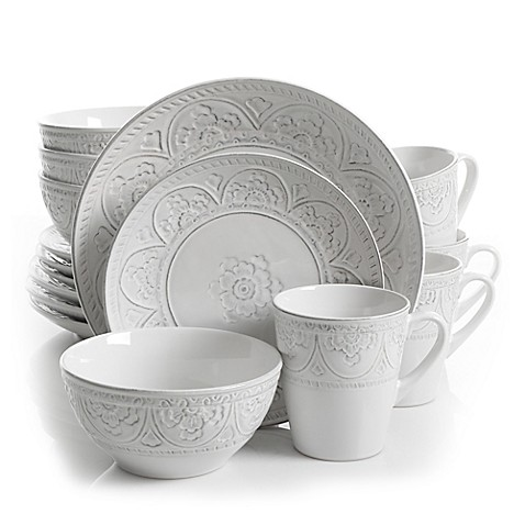 image of Gibson Overseas Juneau 16-Piece Dinnerware Set