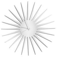 Metal Art Studio Whiteout Starburst Wall Clock with White Hands