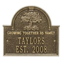 Whitehall Products Family Tree Anniversary/Wedding Plaque in Antique Brass