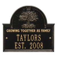 Whitehall Products Family Tree Anniversary/Wedding Plaque in Black/Gold
