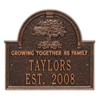 Whitehall Products Family Tree Anniversary/Wedding Plaque in Antique Copper