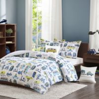 INK+IVY Road Trip 4-Piece Full/Queen Duvet Cover Set in Blue