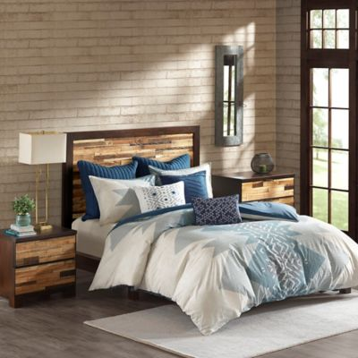Ink Ivy Nova 3 Piece King California Duvet Cover Set In Blue