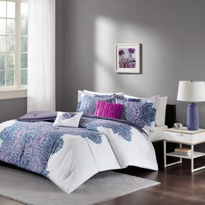 Buy Grey and Purple Bedding from Bed Bath & Beyond