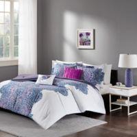 Intelligent Design Mila Full/Queen Comforter Set in Purple