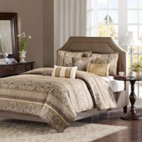 Madison Park Bellagio Full/Queen Coverlet Set in Brown