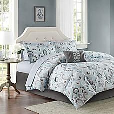 Madison Park Sandra Comforter Set In Blue Bed Bath Amp Beyond