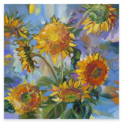 Charmant Sunflower Modern Outdoor All Weather Canvas Wall Art