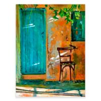 Old Wood Chair - Tuscany Outdoor All-Weather Canvas Wall Art