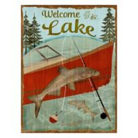 Welcome to the Lake Outdoor All-Weather Canvas Wall Art