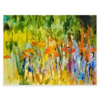 Orange Lily Abstract Outdoor All-Weather Canvas Wall Art