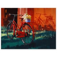Red Bike Outdoor All-Weather Canvas Wall Art