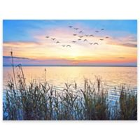 Lake Sunset Outdoor All-Weather Canvas Wall Art
