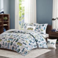 INK+IVY Road Trip 3-Piece Twin Coverlet Set in Blue