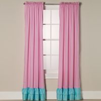 Sweet Jojo Designs Skylar Window Panel Pair in Pink/Turquoise