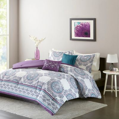 purple bedroom sets. Intelligent Design Anika Full Queen Comforter Set in Purple Buy from Bed Bath  Beyond