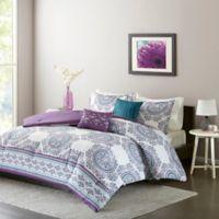 Intelligent Design Anika Full/Queen Comforter Set in Purple