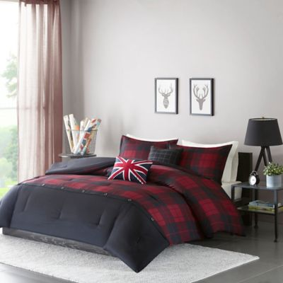blue comforter plush white baseball navy green buffalo bedding pillow set twin or plaid full red with and