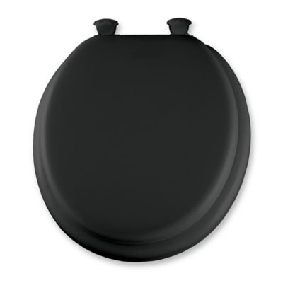 cushioned toilet seat covers. Mayfair Elongated Padded Toilet Seat in Black Buy Soft Seats from Bed Bath  Beyond