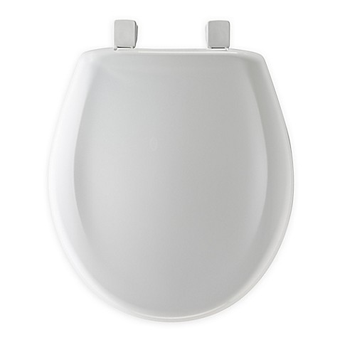 mayfair round plastic whisper close toilet seat in white