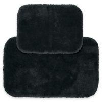 Finest Luxury 2-Piece Bath Rug Set in Dark Grey
