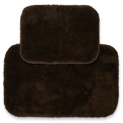 Finest Luxury 2 Piece Bath Rug Set In Chocolate