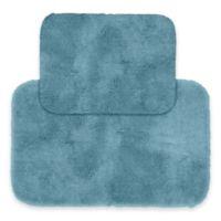 Finest Luxury 2-Piece Bath Rug Set in Blue