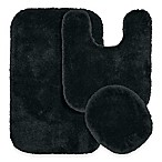 Finest Luxury 3-Piece Bath Rug Set in Dark Grey