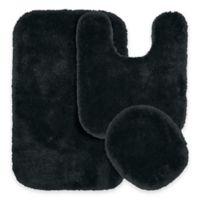 Finest Luxury 3-Piece Bath Rug Set in Dark Grey