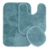 Finest Luxury 3-Piece Bath Rug Set in Blue