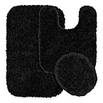 Serendipity 3-Piece Nylon Bath Rug Set in Black