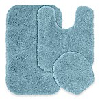 Serendipity 3-Piece Nylon Bath Rug Set in Basin Blue
